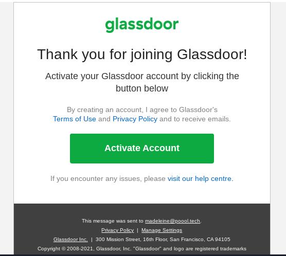 Glassdoor Registration Wall