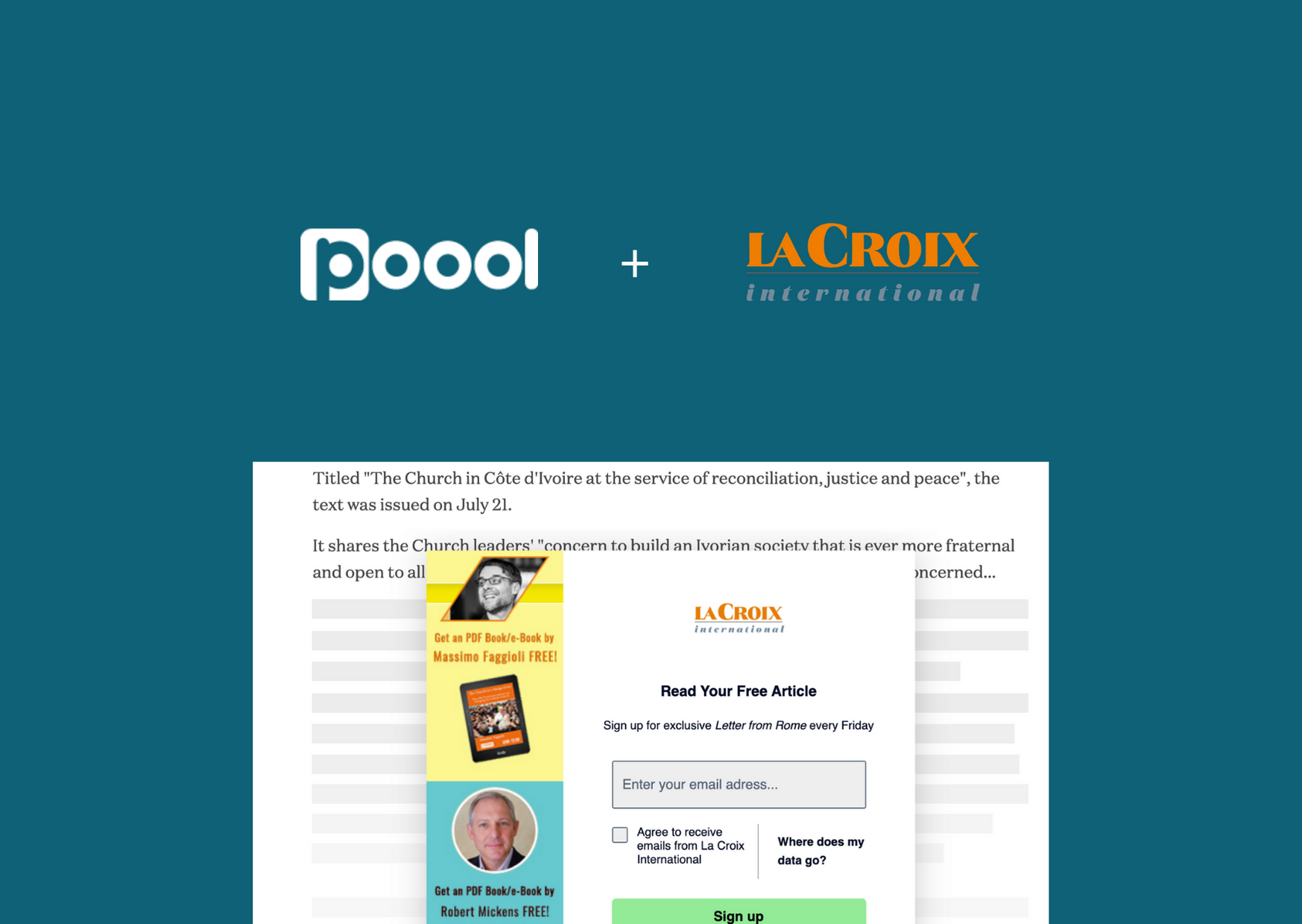 Success Story : Comment l'utilisation de Poool Access a permis à La Croix International de concilier trafic, engagement et conversion ?