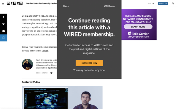 Series | From content to subscription to... content, how many touchpoints? The example of Wired