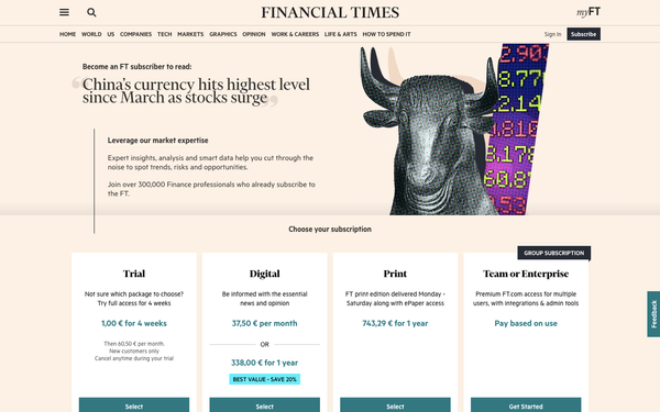Series | From content to subscription to... content, how many touchpoints? The example of the Financial Times
